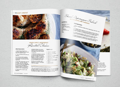 hidden hills magazine recipe article layout indulge media